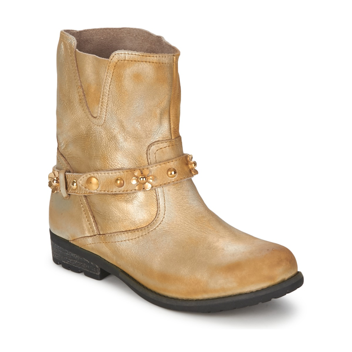 Kotnikove boty Moschino Cheap & CHIC CA21013 Zlatá