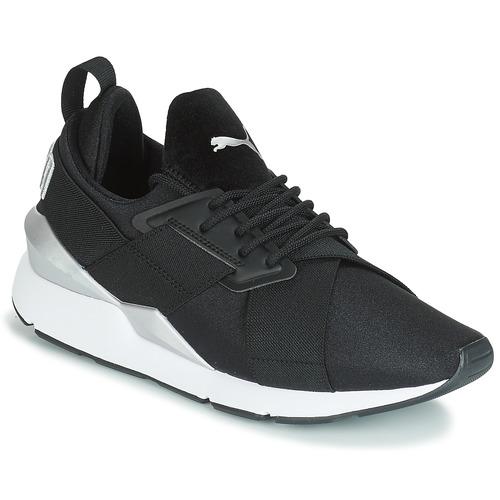 Boty Ženy Nízké tenisky Puma WN MUSE SATIN II.BLACK Černá