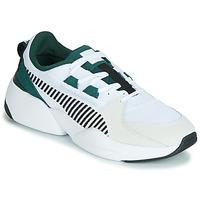 Boty Muži Nízké tenisky Puma ZETA SUEDE.WHITE-PONDEROSA Bílá