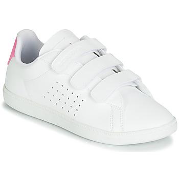 Boty Dívčí Nízké tenisky Le Coq Sportif COURTSET PS Bílá / Růžová