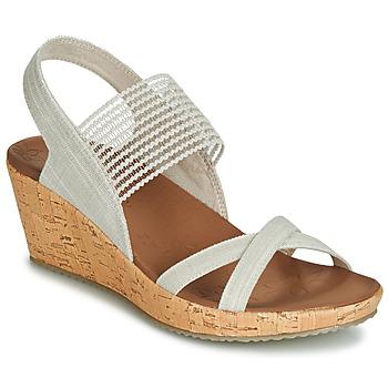 Boty Ženy Sandály Skechers BEVERLEE Béžová