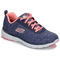 Boty Ženy Fitness / Training Skechers FLEX APPEAL 3.0 Tmavě modrá / Růžová