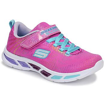 Boty Dívčí Nízké tenisky Skechers LITEBEAMS Růžová