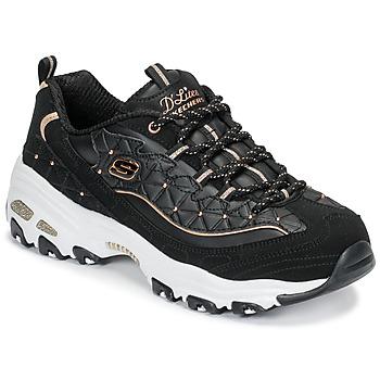 Boty Ženy Nízké tenisky Skechers D LITES GLAMOUR FEELS Černá b651f57721