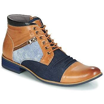Boty Muži Kotníkové boty Kdopa ALMERIA Velbloudí hnědá / Modrá