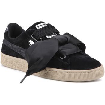 Boty Ženy Nízké tenisky Puma Lifestyle shoes   Suede Heart Safari Wns 364083 03 black