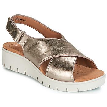 Boty Ženy Sandály Clarks UN KARELY SUN Zlatá