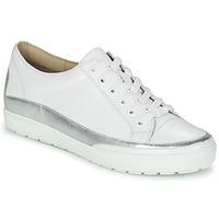 Boty Ženy Nízké tenisky Caprice BUSCETI Bílá / Stříbřitá