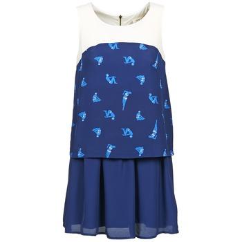Naf Naf Krátké šaty LIBAIN - Modrá