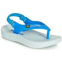 Boty Děti Sandály Ipanema ANATOMIC SOFT BABY Modrá / Bílá