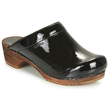 Boty Ženy Pantofle Sanita CLASSIC PATENT Černá