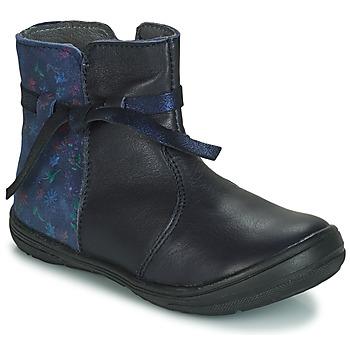Boty Dívčí Kotníkové boty André FLOTTE Tmavě modrá