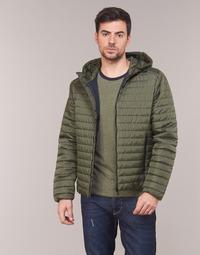 Textil Muži Prošívané bundy Geox TIRPIRUNE Khaki