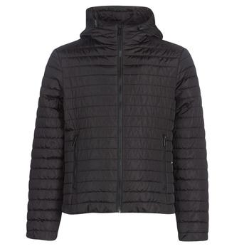 Textil Muži Prošívané bundy Geox TIRPIRUNE Černá