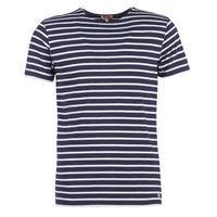 Textil Muži Trička s krátkým rukávem Armor Lux TALOPO Tmavě modrá / Bílá