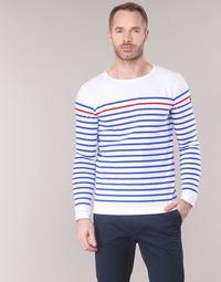 Textil Muži Trička s dlouhými rukávy Armor Lux YAYAYOUT Bílá / Modrá / Červená