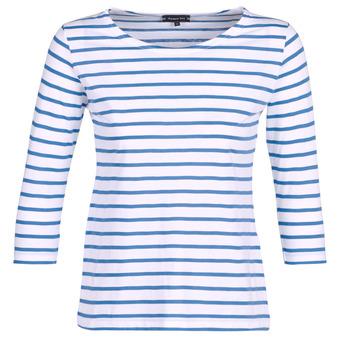Textil Ženy Trička s dlouhými rukávy Armor Lux YAYAROULE Bílá / Modrá