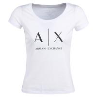 Textil Ženy Trička s krátkým rukávem Armani Exchange HELIAK Bílá