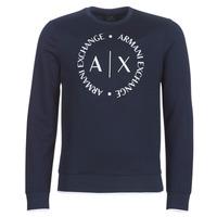 Textil Muži Mikiny Armani Exchange HERBARI Tmavě modrá