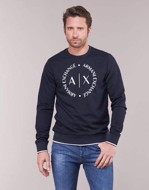 Textil Muži Mikiny Armani Exchange HERBARI Černá