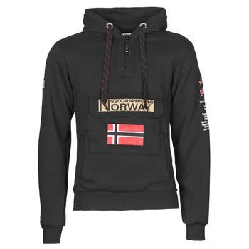 Textil Muži Mikiny Geographical Norway GYMCLASS Černá