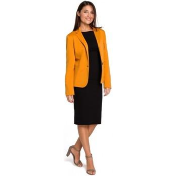 Textil Ženy Šaty Style S154 Sako s jedním knoflíkem - žluté