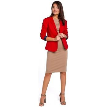 Textil Ženy Šaty Style S154 Sako s jedním knoflíkem - červené