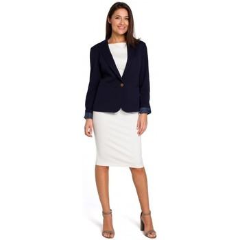 Textil Ženy Šaty Style S154 Sako s jedním knoflíkem - tmavě modré