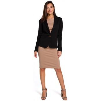 Textil Ženy Šaty Style S154 Sako s jedním knoflíkem - černé