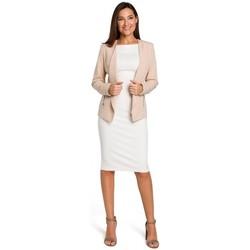 Textil Ženy Overaly / Kalhoty s laclem Style S140 Blejzr na míru se zipy - béžový