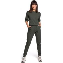 Textil Ženy Overaly / Kalhoty s laclem Be B104 Oblek s výstřihem do V na zádech - námořnická modř