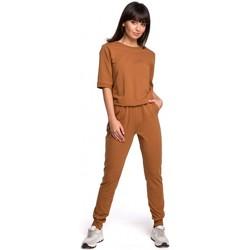 Textil Ženy Overaly / Kalhoty s laclem Be B104 Oblek s výstřihem do V - vojensky zelený