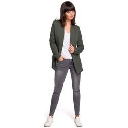 Textil Ženy Šaty Be B103 Otevřené sako plus size - vojensky zelené