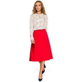 Textil Ženy Mikiny Style S133 Midi sukně áčkového střihu - červená