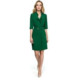 Textil Ženy Tuniky Style S120 Šaty s límečkem a páskem - žluté