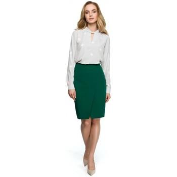 Textil Ženy Halenky / Blůzy Style S127 Zavinovací tužková sukně - zelená