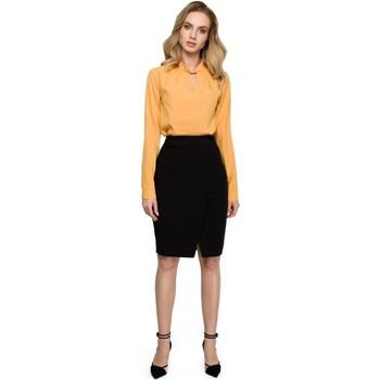 Textil Ženy Šaty Style S127 Zavinovací tužková sukně - černá