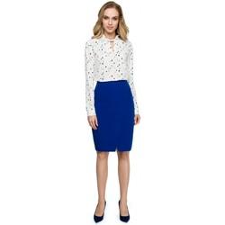 Textil Ženy Svetry / Svetry se zapínáním Style S127 Zavinovací tužková sukně - královská modř