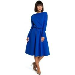 Textil Ženy Krátké šaty Be B087 Šaty ve fitted střihu midi - královsky modré