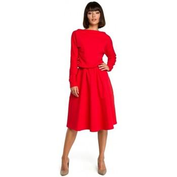 Textil Ženy Krátké šaty Be B087 Šaty midi střihu - červené