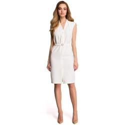 Textil Ženy Mikiny Style S102 Košilové šaty bez rukávů - ecru barva