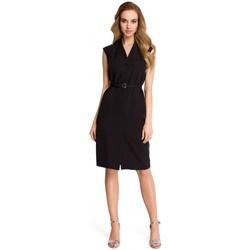 Textil Ženy Šaty Style S102 Košilové šaty bez rukávů - černé