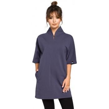 Textil Ženy Halenky / Blůzy Be B043 Kimono tunika - modrá