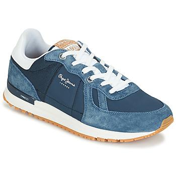 Boty Muži Nízké tenisky Pepe jeans TINKER PRO Modrá