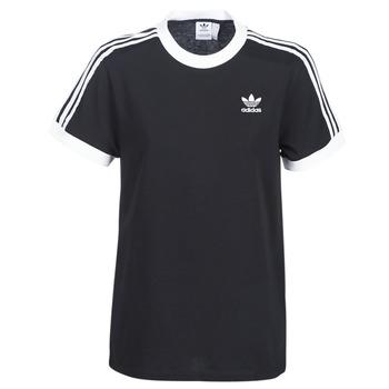 Textil Ženy Trička s krátkým rukávem adidas Originals 3 STRIPES TEE Černá