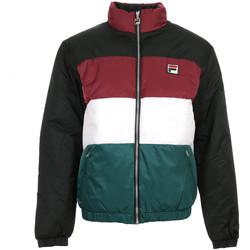 Textil Muži Prošívané bundy Fila Blocked Puffa Jacket Černá