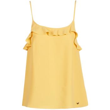 Textil Ženy Tílka / Trička bez rukávů  LPB Woman AZITAFE Žlutá
