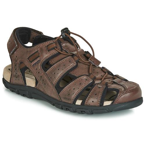 52e524ee7f11 Boty Muži Sportovní sandály Geox UOMO SANDAL STRADA Hnědá