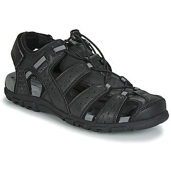 Boty Muži Sportovní sandály Geox UOMO SANDAL STRADA Černá