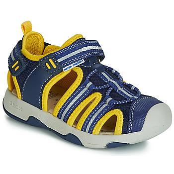 Boty Chlapecké Sandály Geox B SANDAL MULTY BOY Modrá / Žlutá